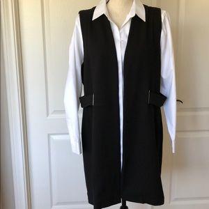 Chico's black knit long vest.